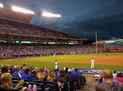 Kauffman Stadium, section: 138, row: K, seat: 1