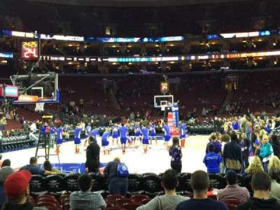 Wells Fargo Center, section: 120, row: 2