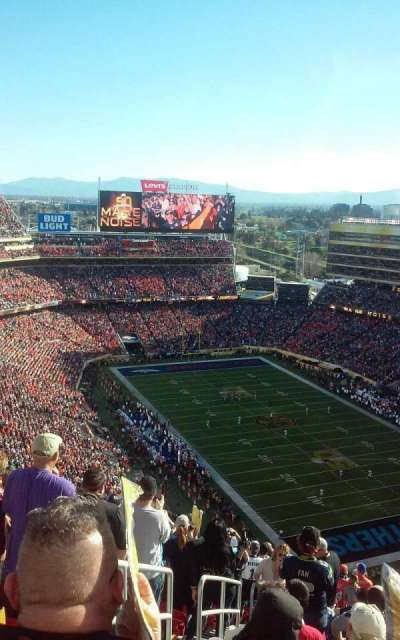 Levi's Stadium, section: 402, row: 27, seat: 26