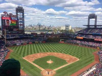 Citizens Bank Park, section: 420, row: 5, seat: 16