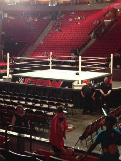 KeyArena, section: 115, row: 7, seat: 8