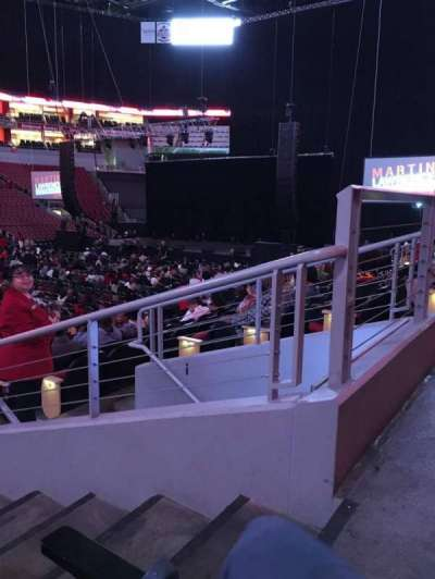 KFC Yum! Center, section: 108, row: N, seat: 2