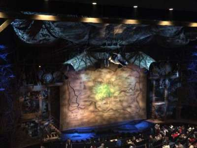 Gershwin Theatre, section: Front Mezzanine L, row: D, seat: 9