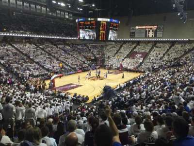 Reed Arena, section: 109, row: R, seat: 13