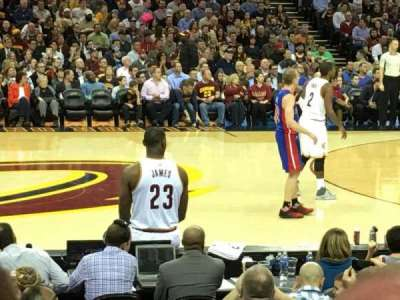 Quicken Loans Arena, section: 125, row: 10, seat: 17
