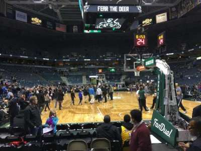 BMO Harris Bradley Center, section: 102, row: CC, seat: 3