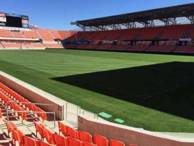 BBVA Compass Stadium, section: 102, row: F, seat: 10