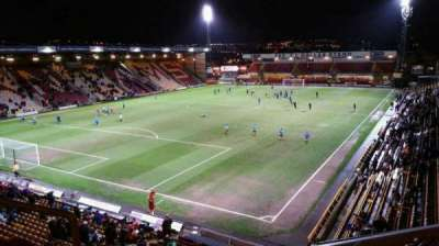 Valley Parade, section: NW Corner, Block G, row: C, seat: 99