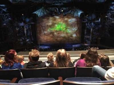 Gershwin Theatre, section: Mezzanine, row: D, seat: 106