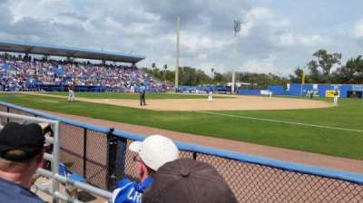 Florida Auto Exchange Stadium, section: 100A, row: 2, seat: 18