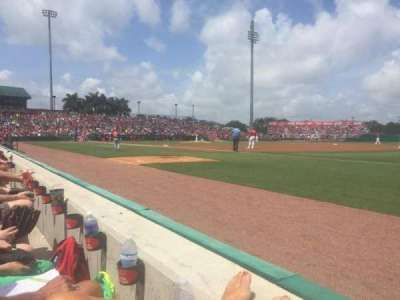 Roger Dean Stadium, section: 103, row: 1, seat: 12