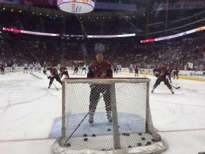Gila River Arena, section: 117, row: A, seat: 8