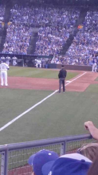 Kauffman Stadium, section: 109, row: j, seat: 6