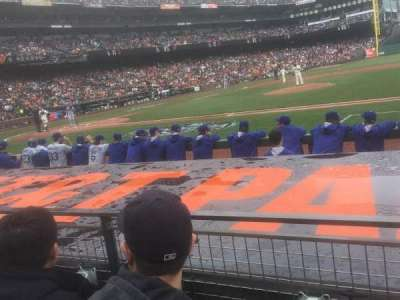 AT&T Park, section: 108, row: C, seat: 5