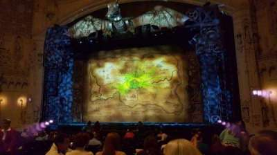 Orpheum Theatre (San Francisco), section: orchestra rc, row: T, seat: 120