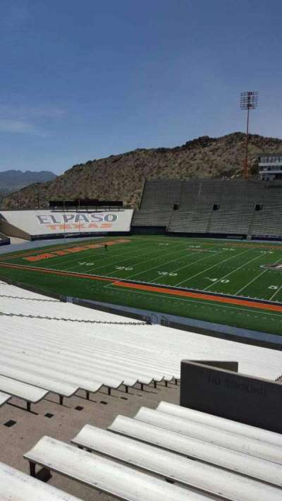 Sun Bowl Stadium, section: 21, row: 45, seat: 27