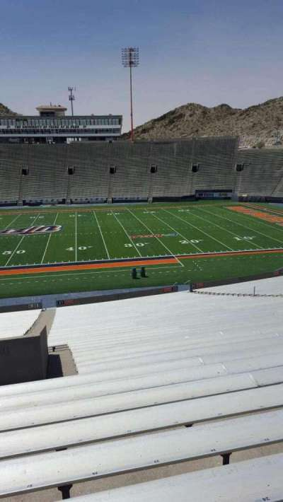 Sun Bowl Stadium, section: 22, row: 45, seat: 27