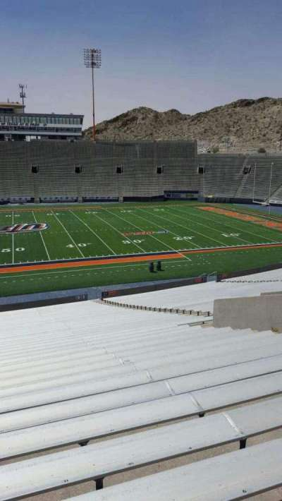 Sun Bowl Stadium, section: 22, row: 44, seat: 12