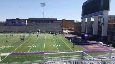 Bridgeforth Stadium, section: 203, row: e, seat: 1