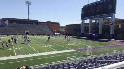 Bridgeforth Stadium, section: 105, row: handicap, seat: 9