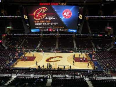 Quicken Loans Arena, section: 209, row: 2, seat: 3