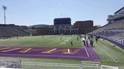 Bridgeforth Stadium, section: 117, row: l, seat: 1
