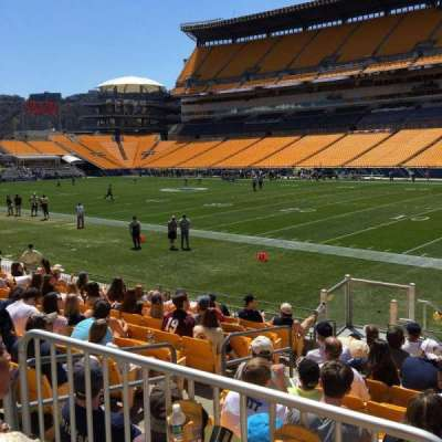 Heinz Field, section: 114, row: X, seat: 7
