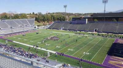 Bridgeforth Stadium, section: 303, row: b, seat: 1