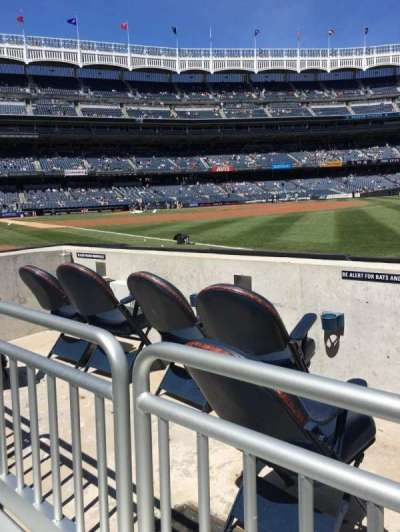 Yankee Stadium, section: 011, row: 1, seat: 3