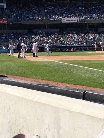 Yankee Stadium, section: 011, row: 1, seat: 3
