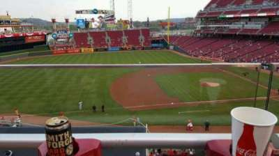 Great American Ball Park, section: 416, row: A, seat: 13
