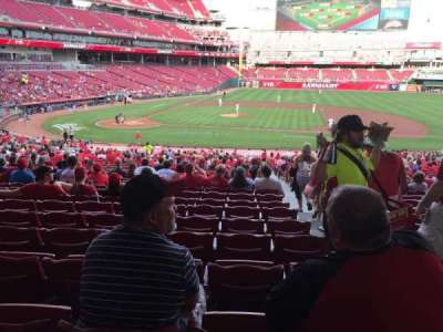 Great American Ball Park, section: 129, row: NN, seat: 1