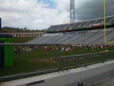 Scott Stadium, section: 118, row: G, seat: 1