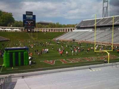 Scott Stadium, section: 117, row: Z, seat: 29
