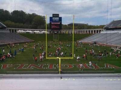 Scott Stadium, section: 116, row: BB, seat: 19
