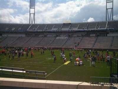Scott Stadium, section: 105, row: H, seat: 3