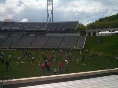 Scott Stadium, section: 103, row: O, seat: 23