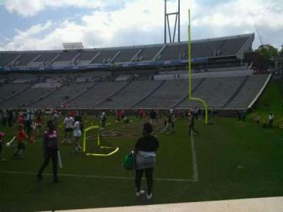 Scott Stadium, section: 102, row: A, seat: 14