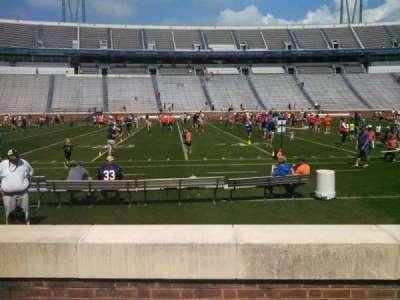 Scott Stadium, section: 126, row: D, seat: 18