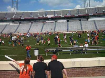 Scott Stadium, section: 124, row: F, seat: 17