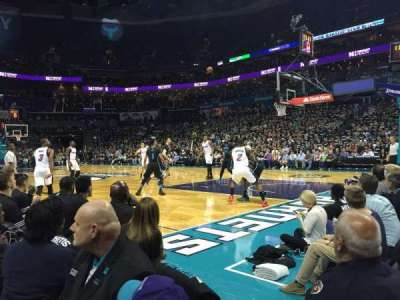 Spectrum Center, section: 103, row: A4, seat: 3