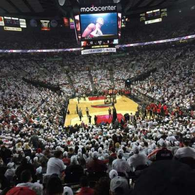 Moda Center, section: 209, row: G, seat: 6