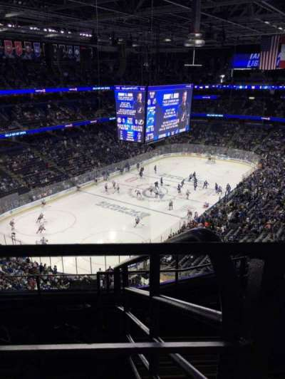 Amalie Arena, section: 306, row: F, seat: 1