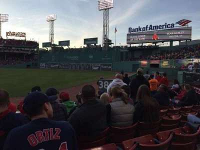 Fenway Park, section: Right Field Box 2, row: J, seat: 13