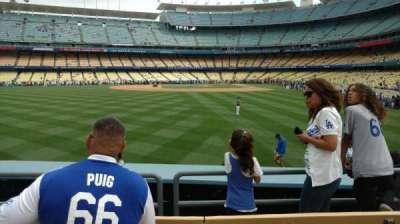 Dodger Stadium, section: 303, row: D, seat: 9
