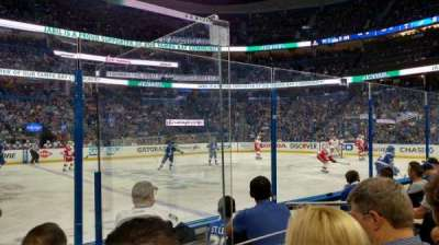 Amalie Arena, section: 116, row: D, seat: 5