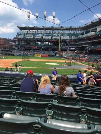 Progressive Field, section: 160, row: U, seat: 4