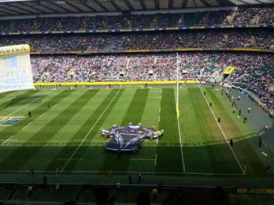 Twickenham Stadium, section: U4, row: E, seat: 75/76