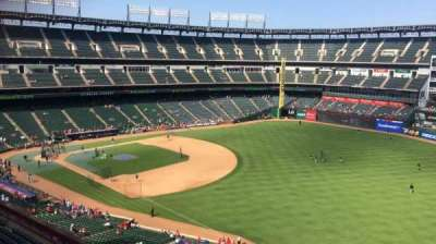 Globe Life Park in Arlington, section: 340, row: 2, seat: 6