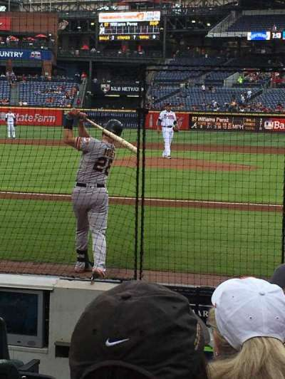 Turner Field, section: 108, row: 5, seat: 1